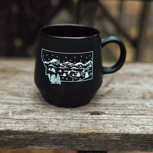 Montana Winter Mug - Black