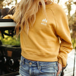 Wild Ladies Crop Pullover - Mustard