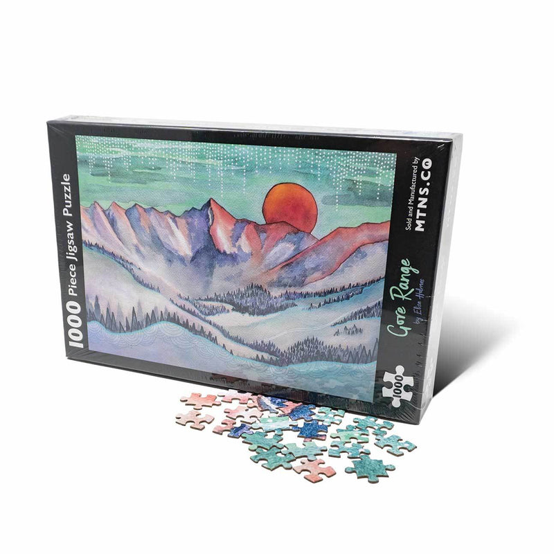 Gore Range Painting - Jigsaw Puzzle 1000 piece