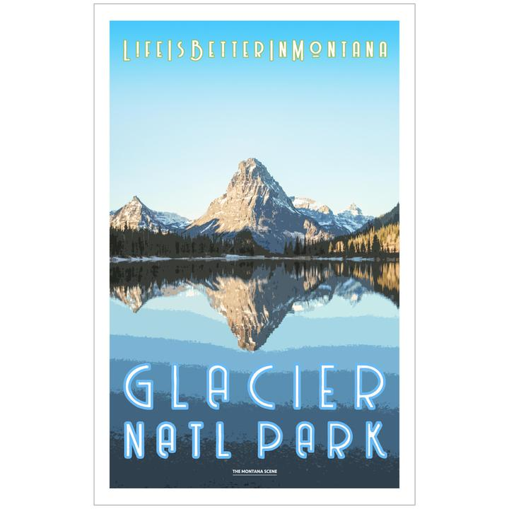 Life is Better in Montana GNP Poster w/Yellow