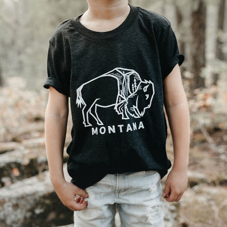 In the Mountains of Montana Ladies Tee - Maroon