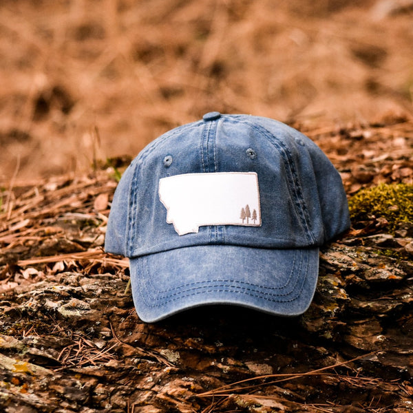 Montana Trees Dad Hat - Multiple Colors