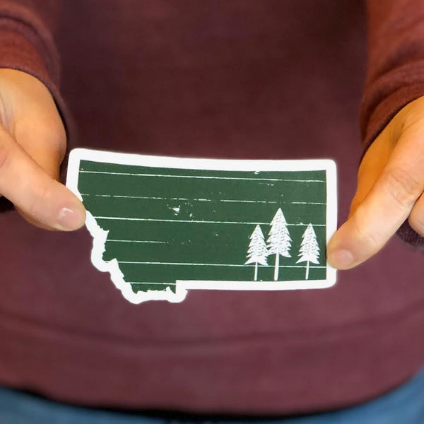 Montana Trees Sticker
