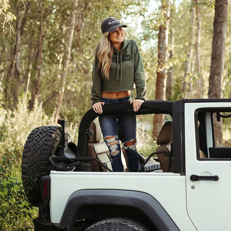 Ready for Adventure Ladies Hoodie - Charcoal
