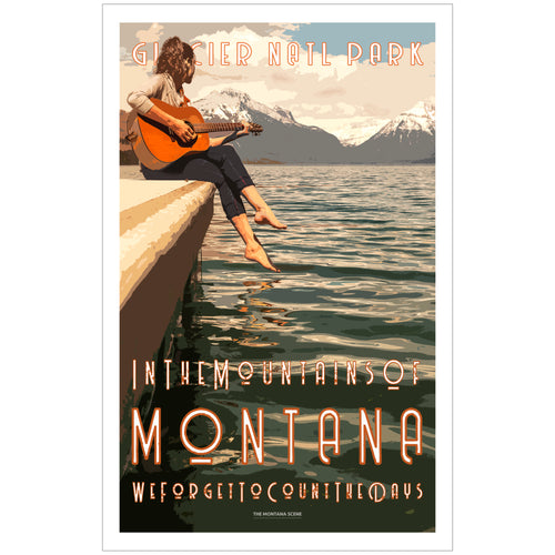 In the Mountains of Montana GNP Poster