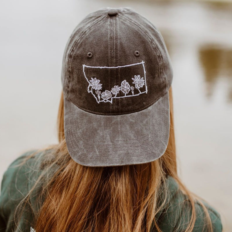 MT Wildflower Dad Hat - Charcoal