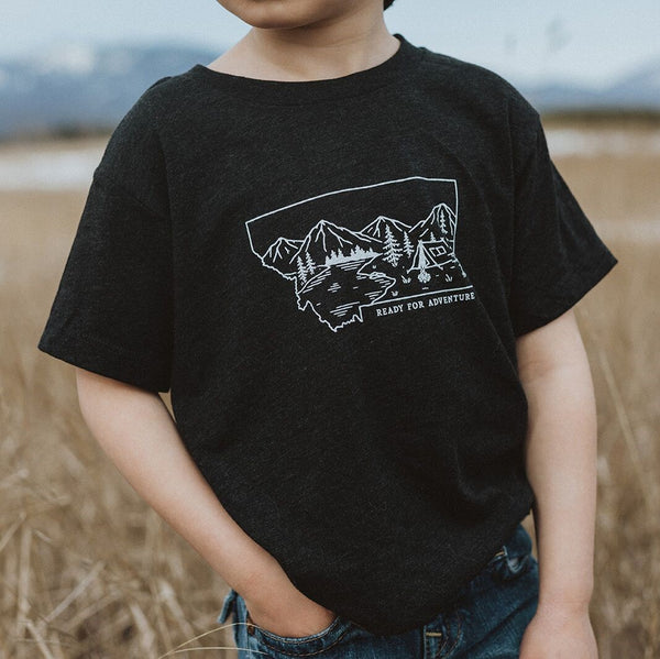 Ready for Adventure Infant & Toddler Tee - Charcoal