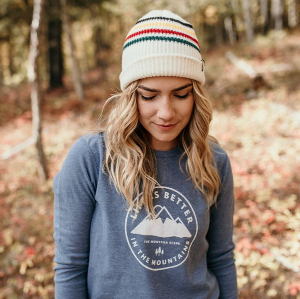 Life is Better in the Mountains Thermal Unisex - Light Blue