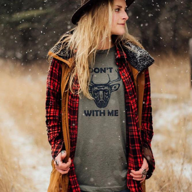 Don't Buck With Me Unisex Tee - Olive 1