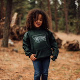 Starry Road Kids Hoodie - Green