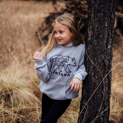 montana bear kids hoodies