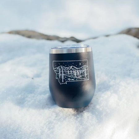 Montana Bison Stainless Steel Tumbler - Black