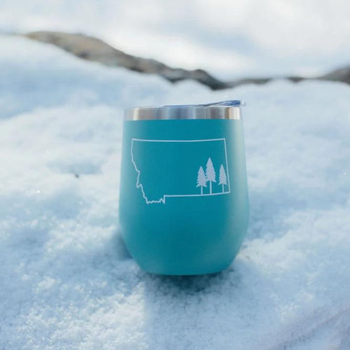Tree Outline Stainless Steel Tumbler - Teal