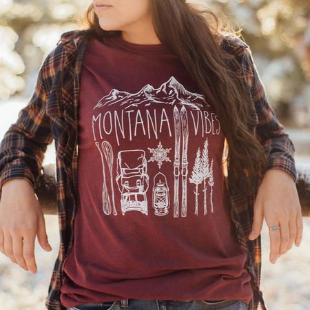 Montana Fish Unisex Tee - Heathered Green