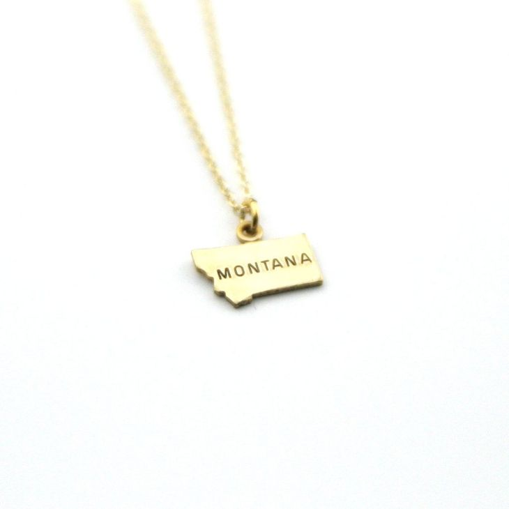 Montana Stamped Necklace -Brass