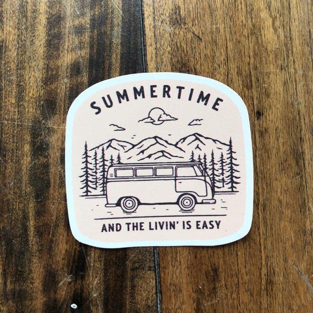 Summertime and the Livin' is Easy Sticker - Peach 1