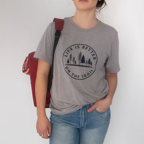 Life is Better on the Trail Unisex Tee - Athletic Grey