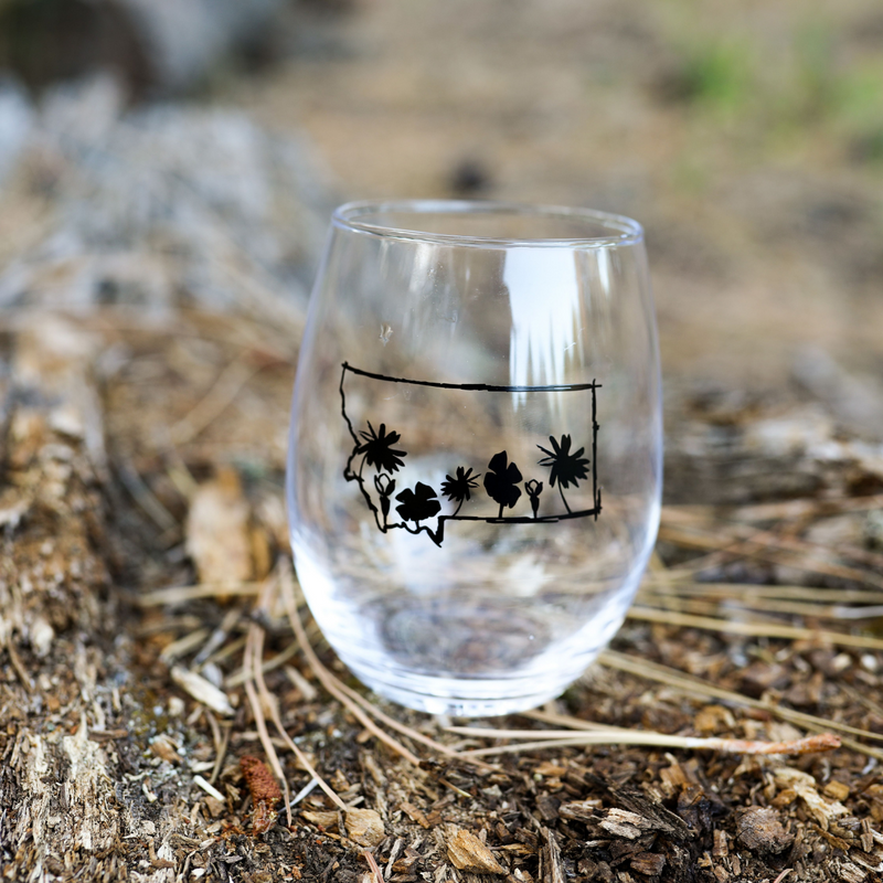 Montana Wildflower Wine Glass