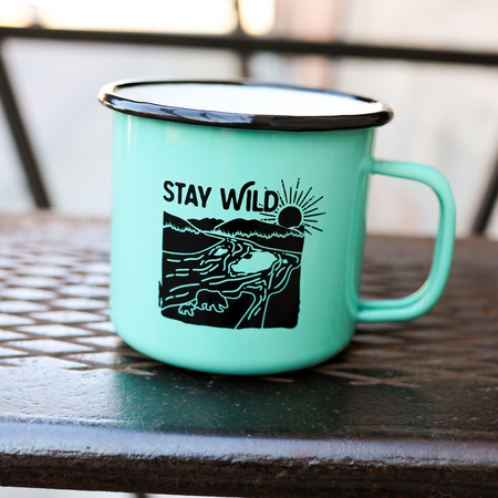 Montana Tree Outline Mug - Black/Green