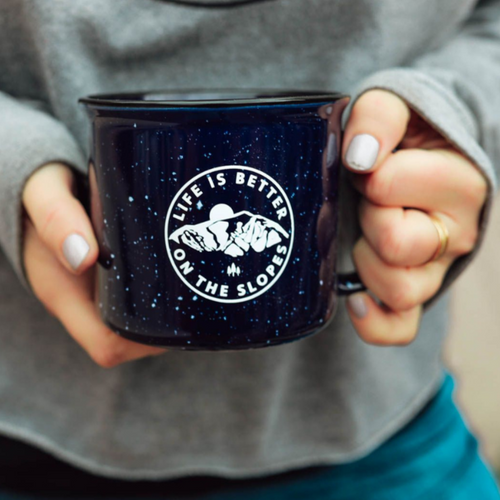 life is better in the slopes mug