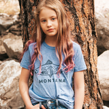 Montana Fish Kids Tee - Blue