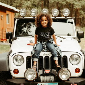 Ready for Adventure Toddler & Kids Tee - Charcoal