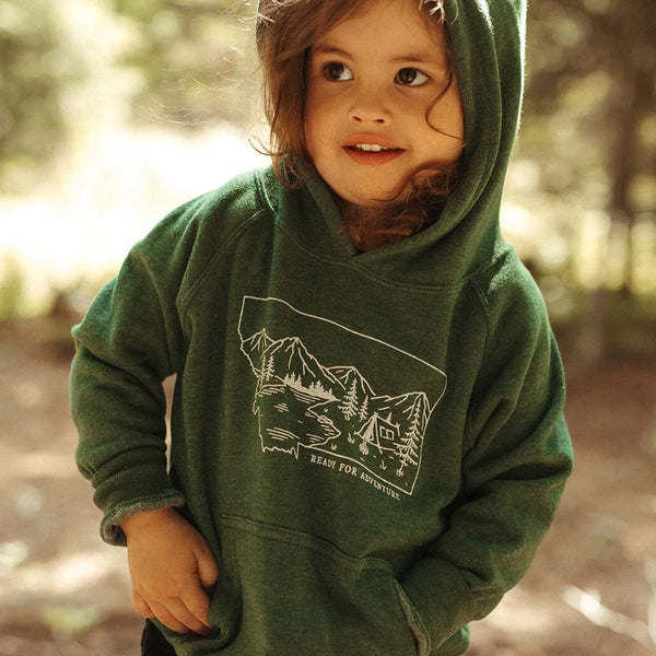 Ready for Adventure Toddler Hoodie - Green