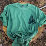 Rustic Three Tree Unisex Tee - Green
