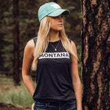 Montana Bar Ladies Muscle Tank - Navy