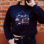 Wild Soul Ladies Crop Fleece - Navy