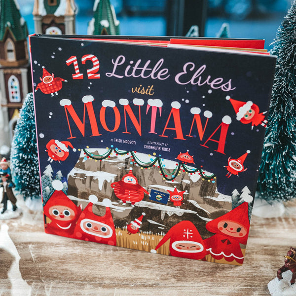 12 Little Elves Visit Montana -Kids Book