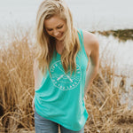 Teal life is better at the lake ladies tank