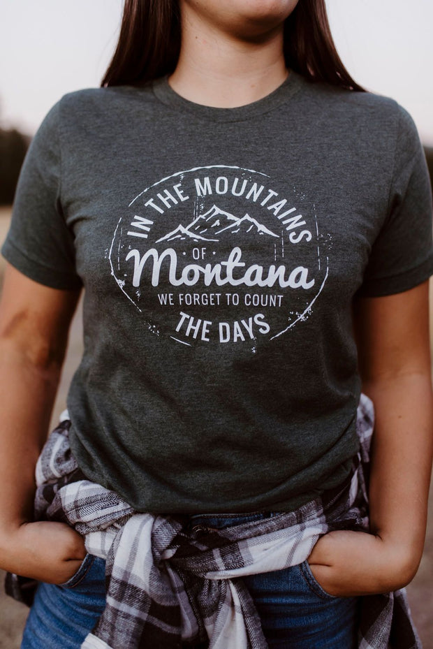 In the Mountains of Montana Unisex Tee - Pine 1