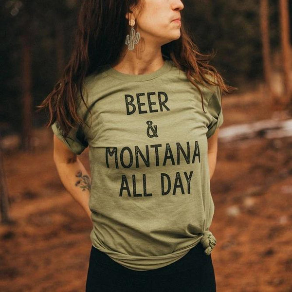 Beer & Montana All Day Tee