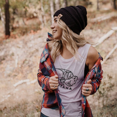 Coffee & Montana All Day Tank Heathered Navy