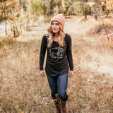 Montana Bison Long Sleeve Tunic - Black