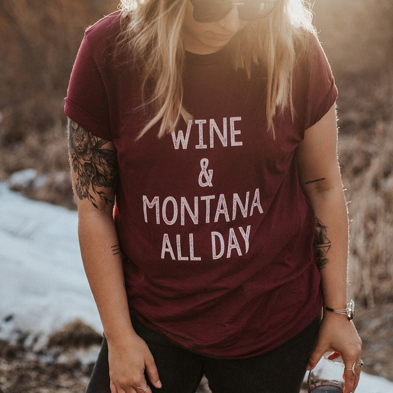 wine & montana all day tee