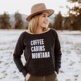 Coffee Cabins Montana Fleece Sweatshirt