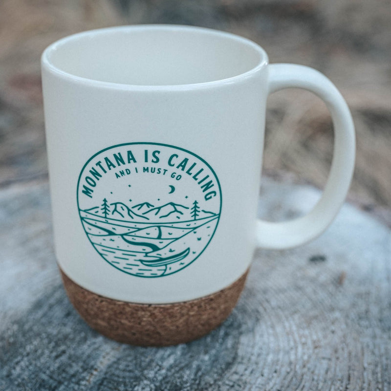 Montana is Calling Cork Mug - Cream