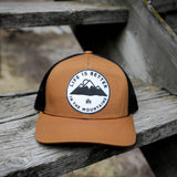 Life is Better in the Mountains Trucker - Camel