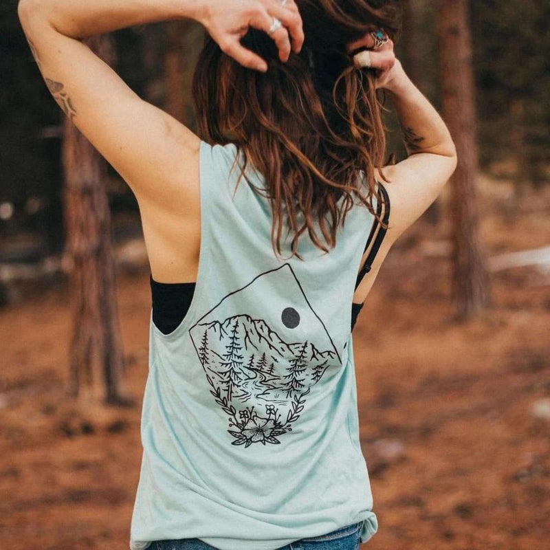 take me to the wildflowers muscle tank