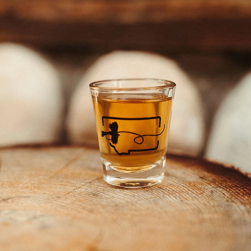 Fly Fishing Shot Glass