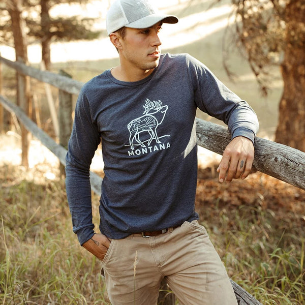 Elk Unisex Long Sleeve - Navy