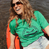 Life is Better on the River Unisex Tee - Green