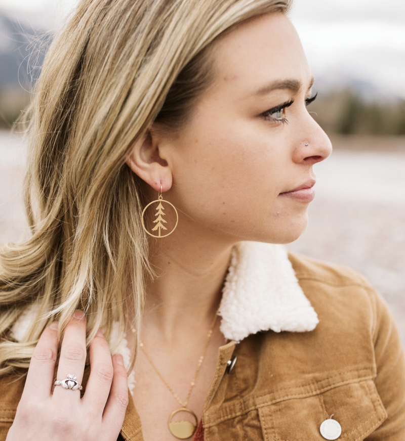Lone Pine Earrings - Gold/Silver