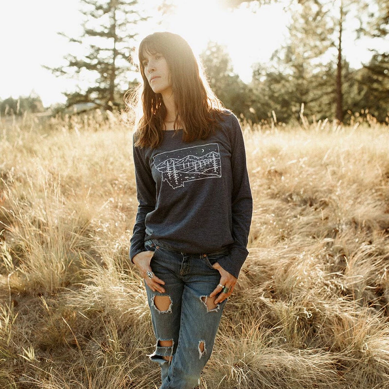 Starry Road Long Sleeve Tunic - Navy