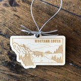 Montana Lover Wooden Ornament