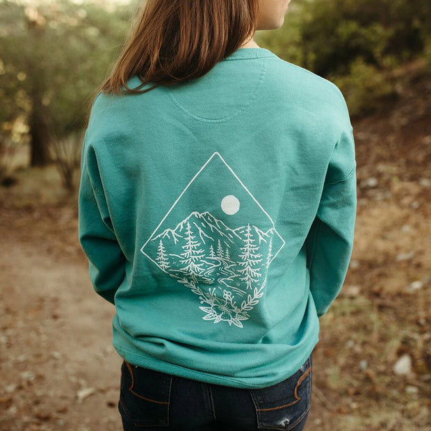 Take me to the Wildflowers Unisex Pullover - Teal 1