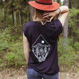 Take me to the Wildflowers Rolled Sleeve - Navy