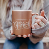 Starry Road Limited Edition Ceramic Mug - Rose Gold